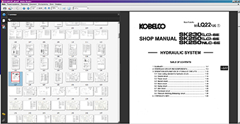 Kobelco Service Manuals